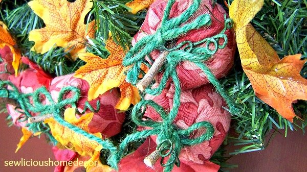 Fall pumpkin tutorial wreath sewing