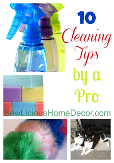 10 Cleaning tips by a pro at sewlicioushomedecor.com
