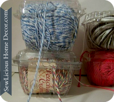 Yarn twine containers