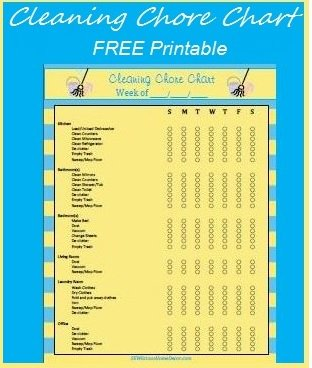 cleaning chore chart