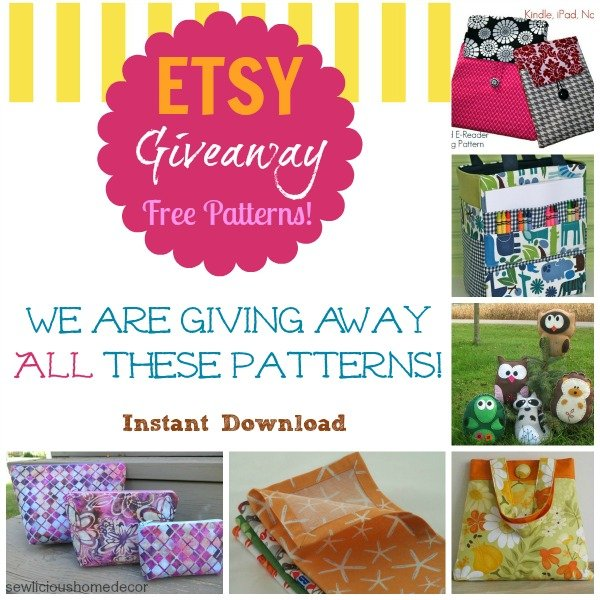 Home Decor Sewing Ideas: Fridays Freebies-ETSY Sewing Patterns