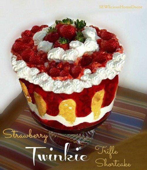 Strawberry Twinkie Trifle Shortcake