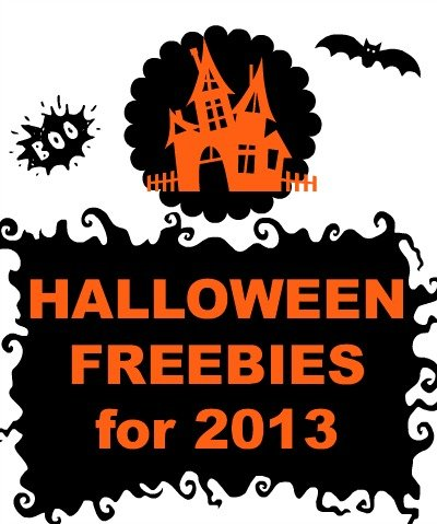 2013 halloween freebies