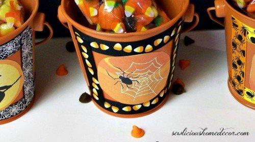 Halloween Gift Buckets spider