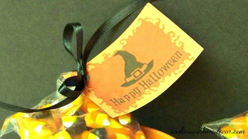 Halloween Gift Buckets witch hat