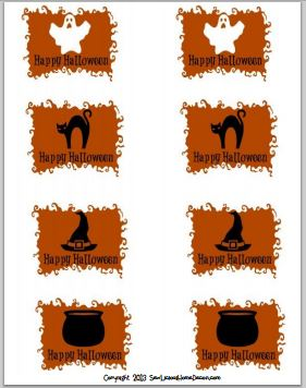 Halloween Spooky Gift Tags