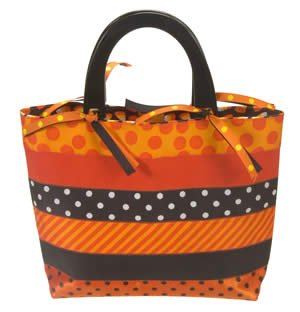 halloween Zig Zag Ribbon Bag