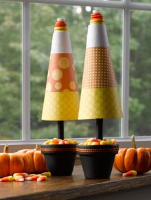 halloween candy corn topiary