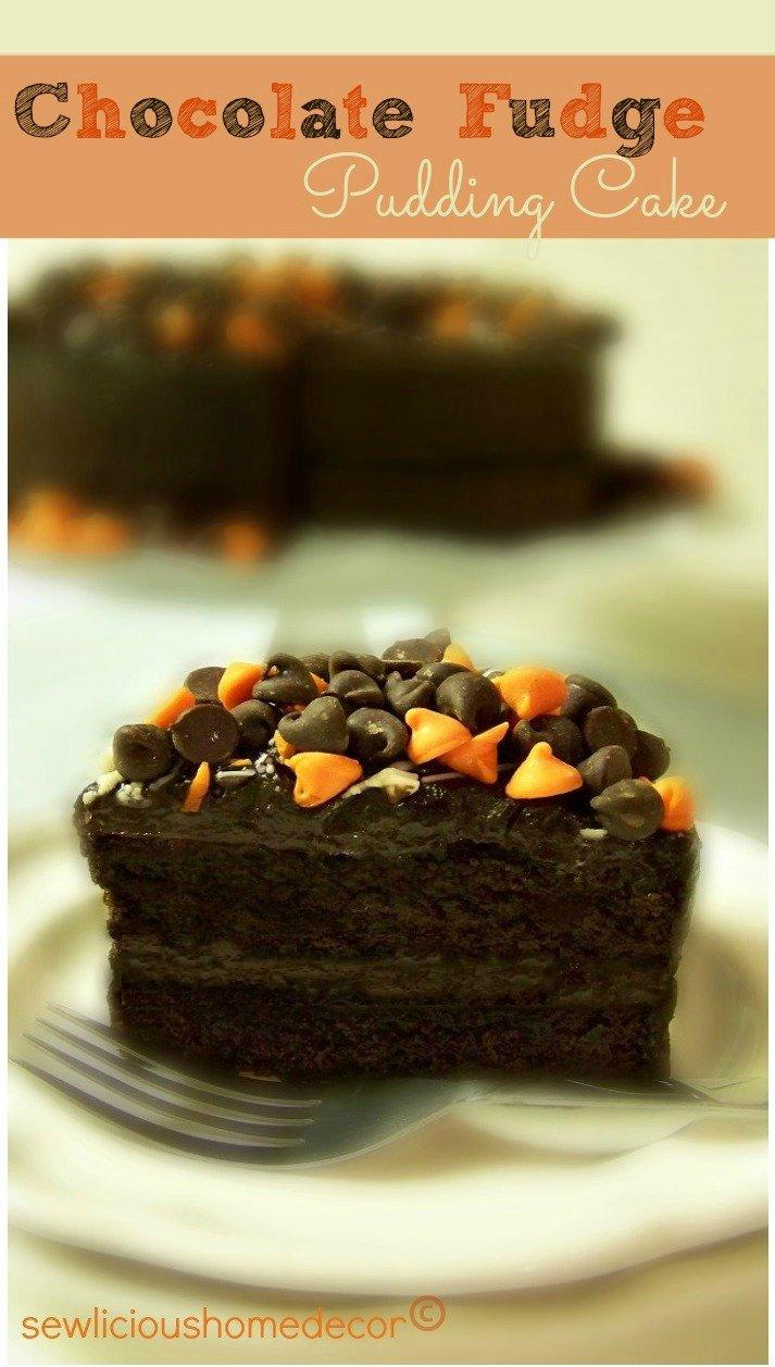 halloween chocolate fudge pudding cake dessert
