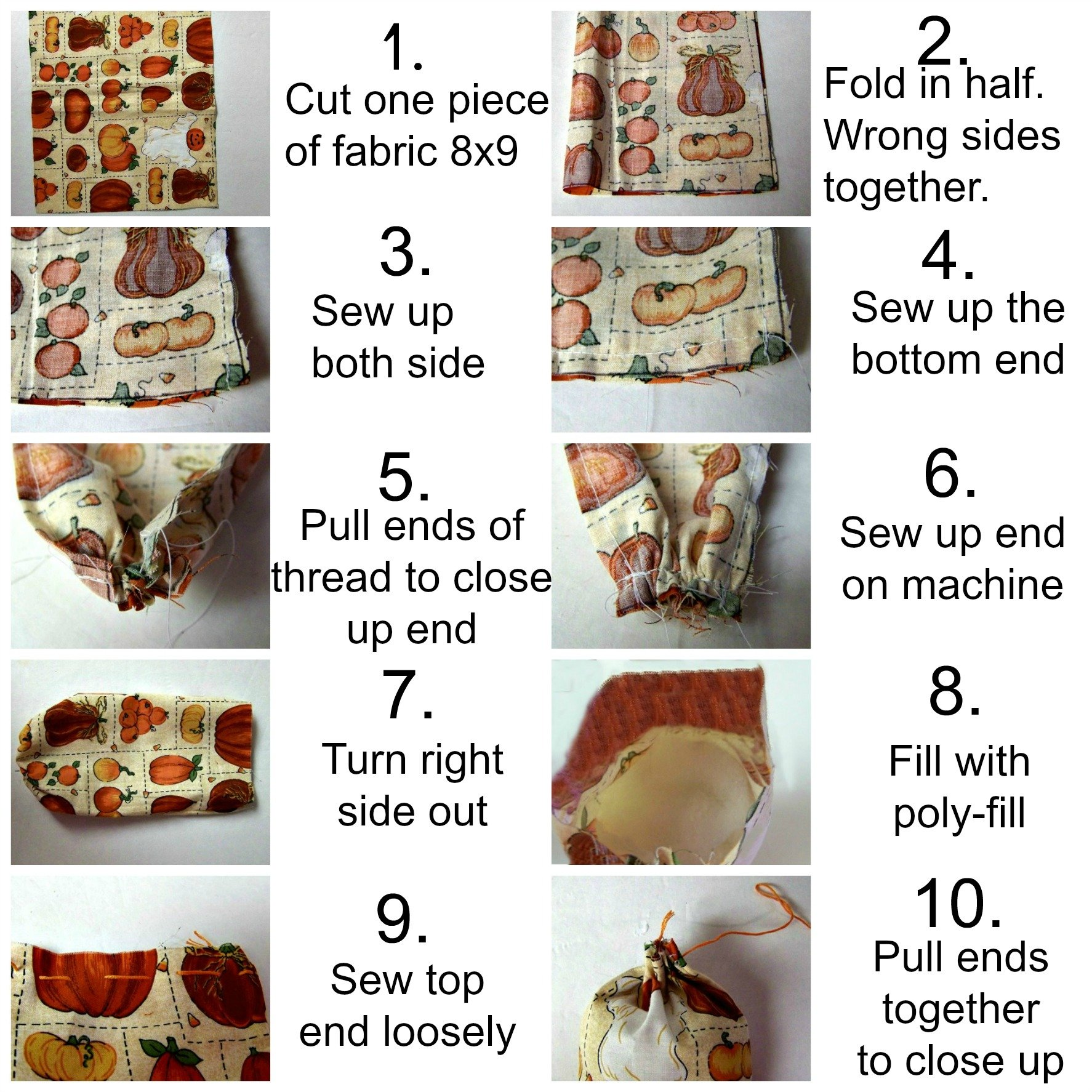 how to make a felt pumpkin collage