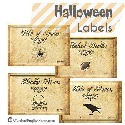 list Halloweenlabelsjarsbottles