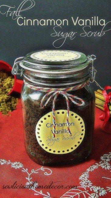 Cinnamon Vanilla cocnut oil honey sugar scrub
