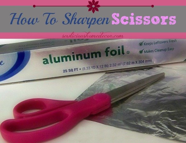 How to sharpen scissors pinterest