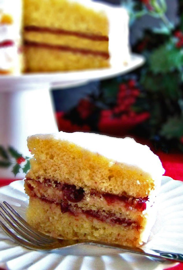 lemon cranberry glazed cake