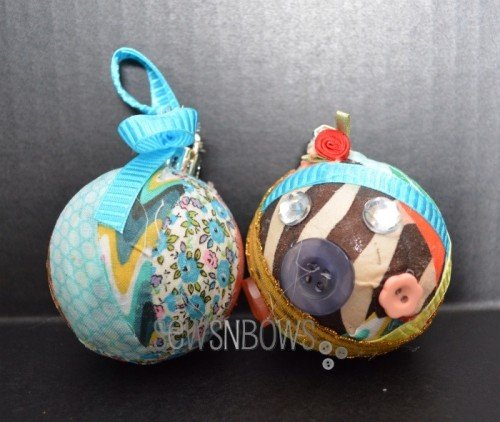DIY craft room christmas ornaments