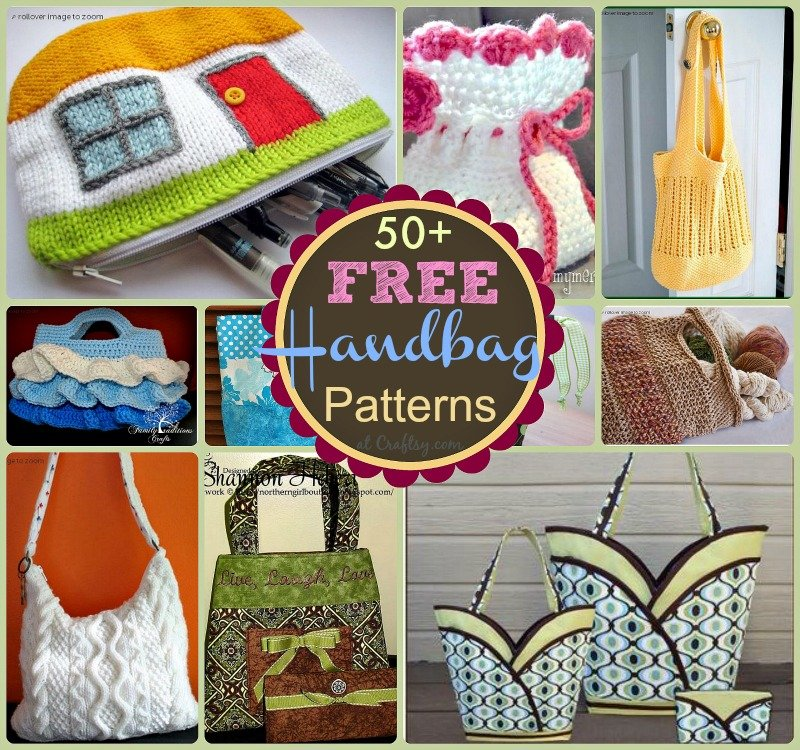 photograph regarding Handbag Patterns Free Printable named 51 No cost Handbag and Purse Behaviors and Tutorials