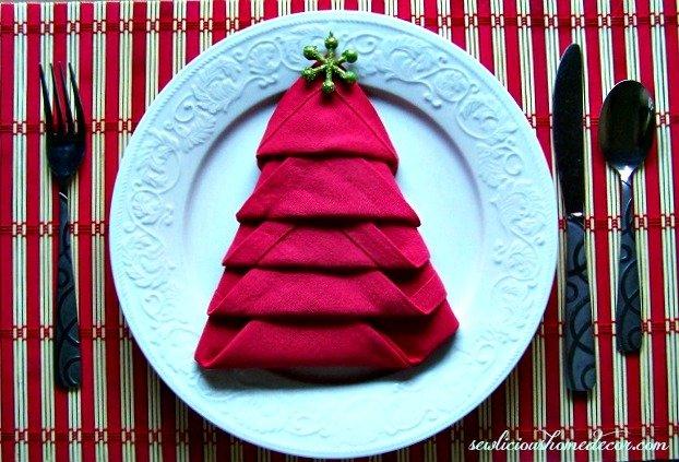 Christmas Tree Napkin Tutorial