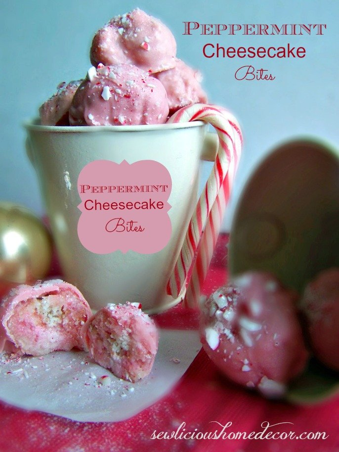 Peppermint Cheesecake Bites Recipe — Dishmaps