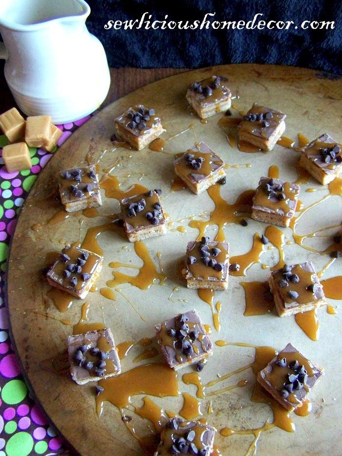 Salted Caramel Shortbread Fudge Bars