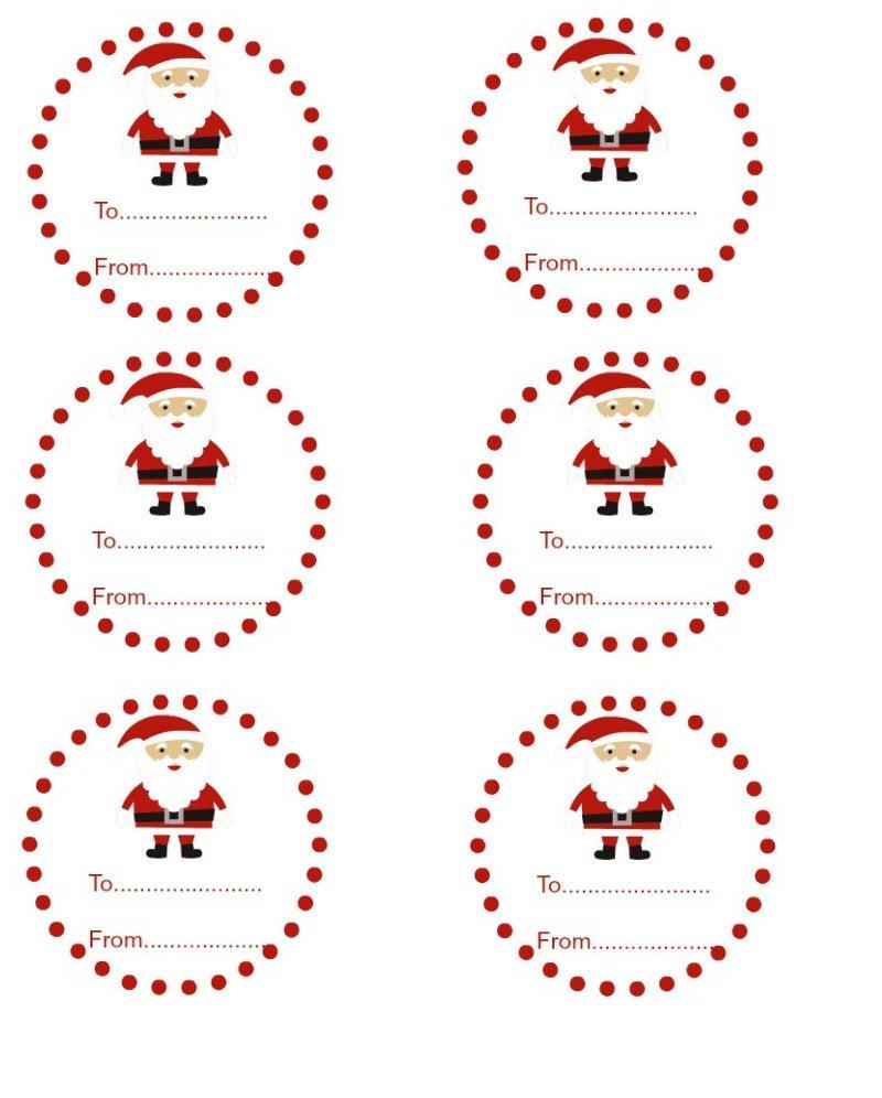 Santa Gift Tags - Sew Licious Home Decor
