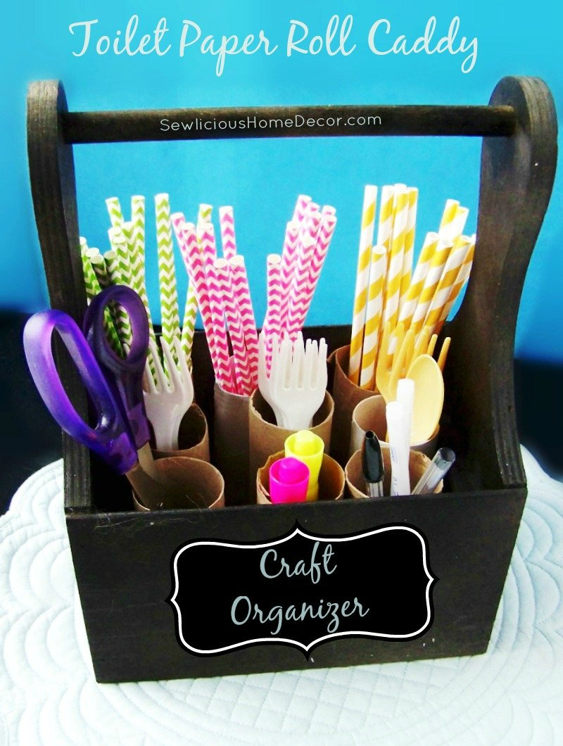 Toilet Paper Roll Craft Organizer at sewlicioushomedecor.com