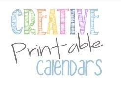 creative printable calendars