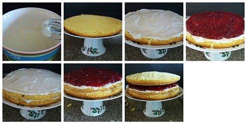 Lemon Cranberry Cake with Lemon Glazed Icing
