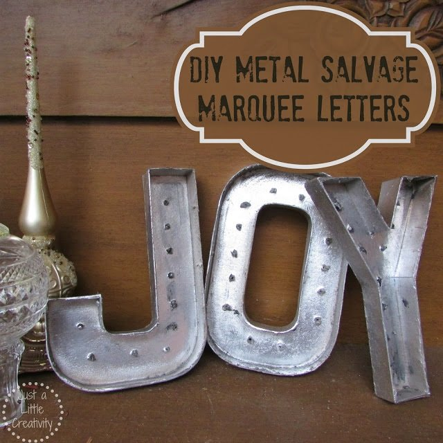 diy paper mache salvage marquee letters