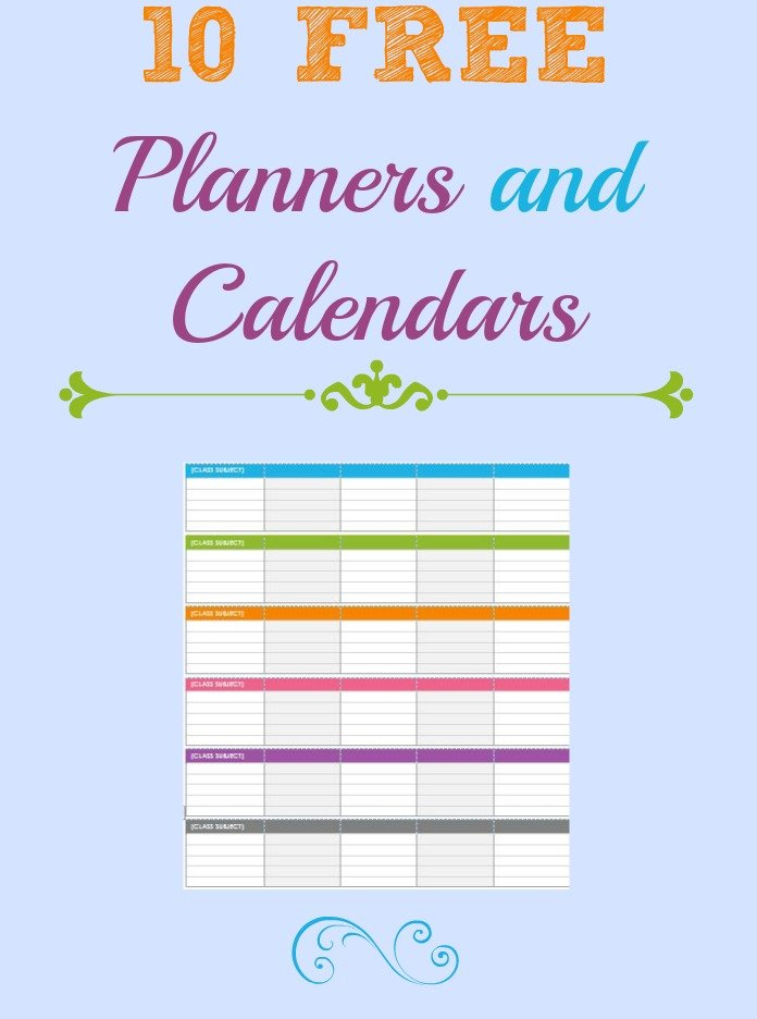 10 calendars and planners