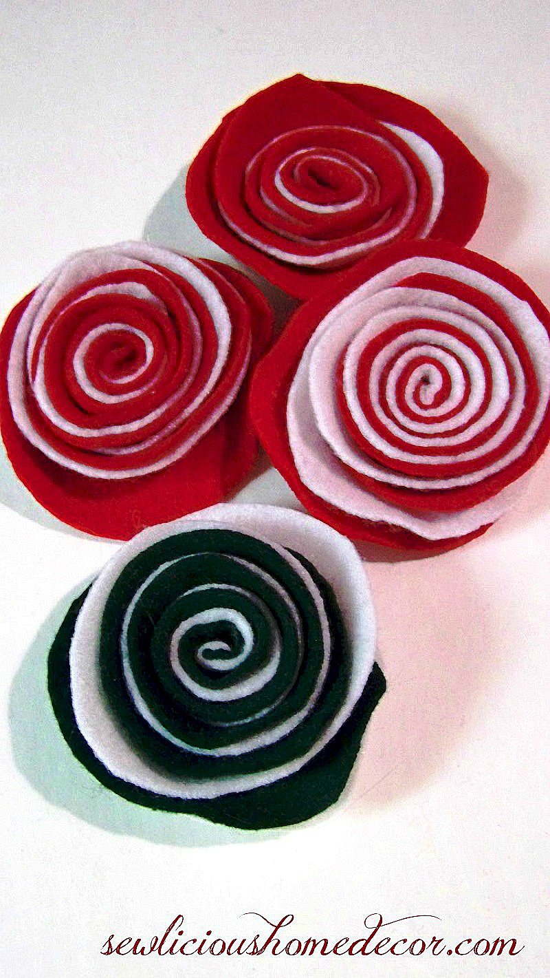 Two toned felt flower easy tutorial.