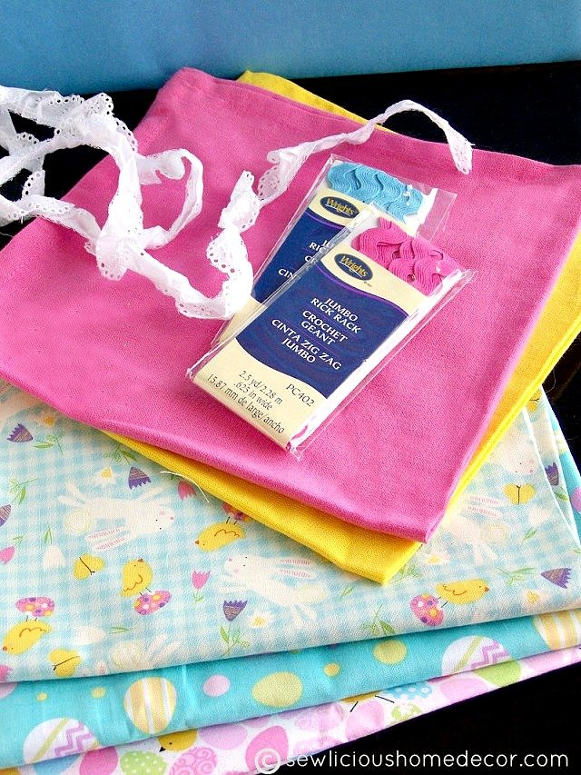 DIY Ruffled Towels supplies