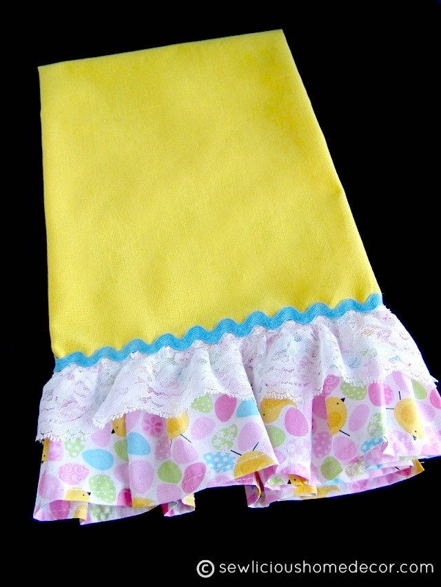 Easy Ruffled-Yellow-Towel-Tutorial