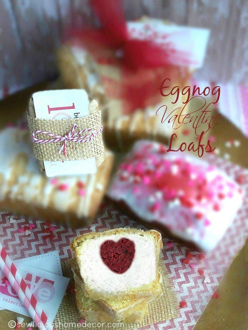 Eggnog Mini Valentine Loaf