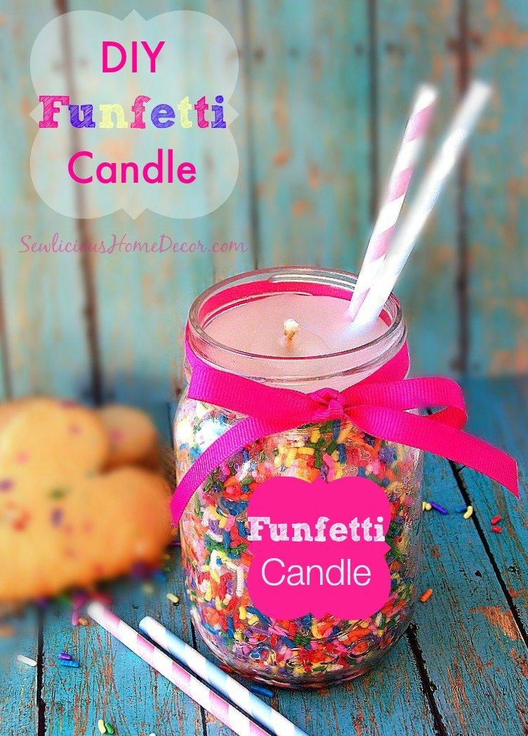 DIY Fenfetti Candle Tutorial At