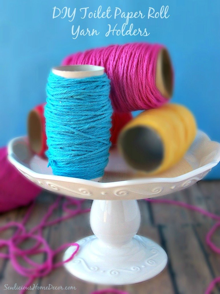 DIY Toilet Paper Roll Yarn Holders