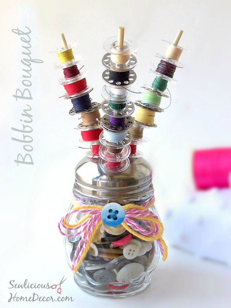 Bobbin Bouquet at sewlicioushomedecor.com