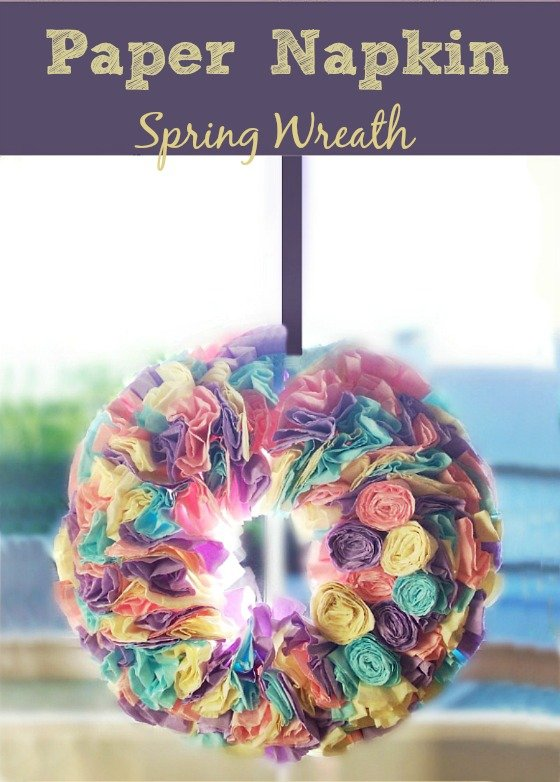 DIY-Spring #Easter-#Wreath-made-from-Paper-Napkins-at-sewlicioushomedecor