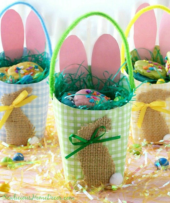 #Easter Egg Basket Containers at sewlicioushomedecor.com