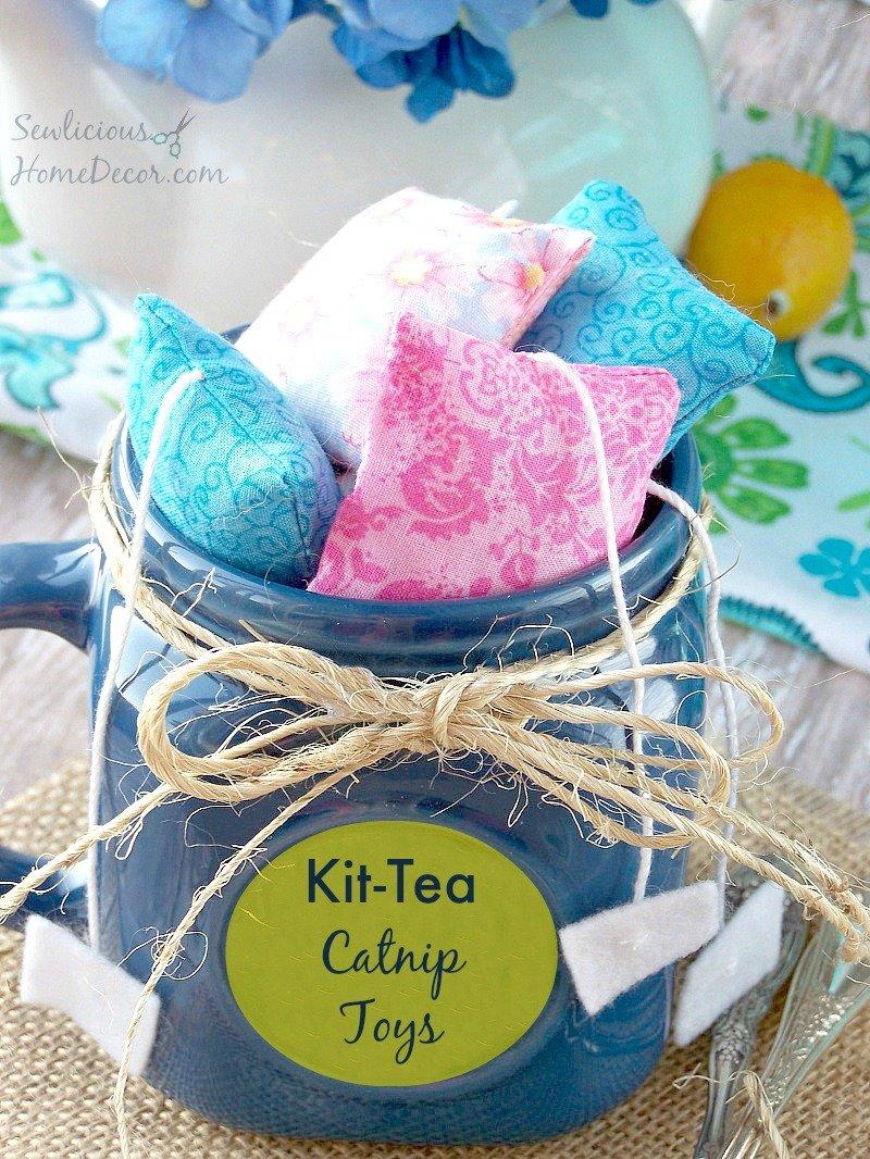 Kit Tea #Catnip #Cat Toys at sewlicioushomedecor.com #cats