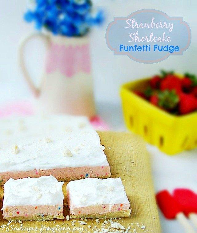 A Strawberry Shortcake Funfetti Fudge sewlicioushomedecor.com