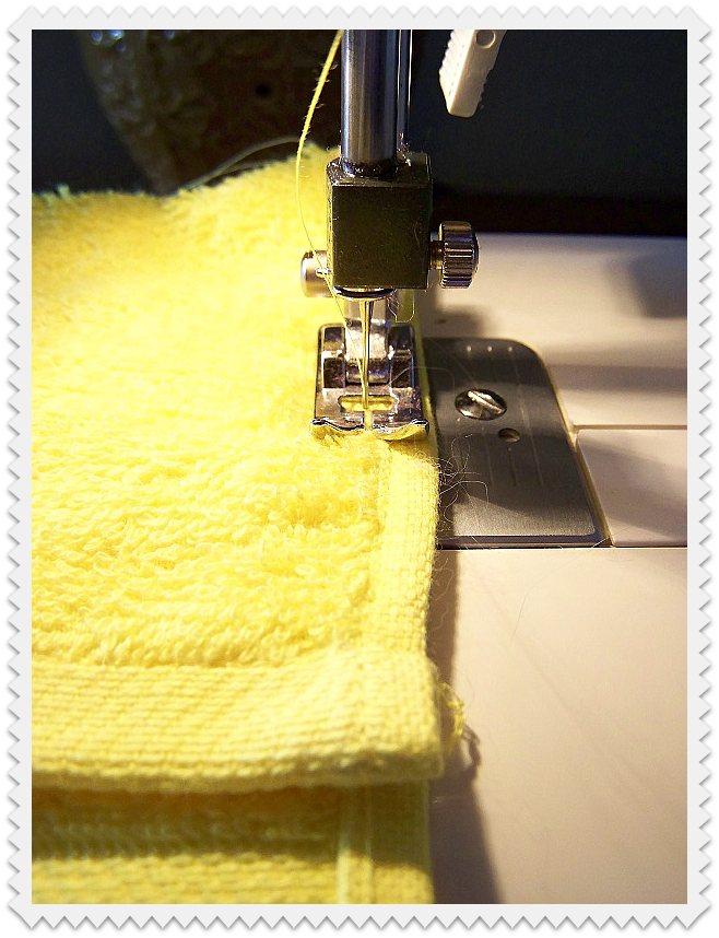 Sew up both sides of washcloth