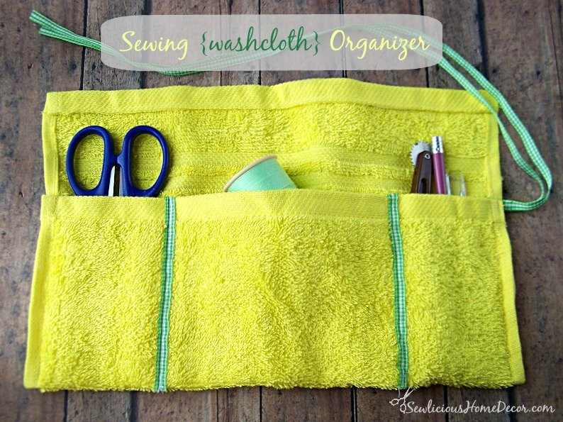 #Sewing Washcloth Rollup #Organizer Tutorial at sewlicioushomedecor.com