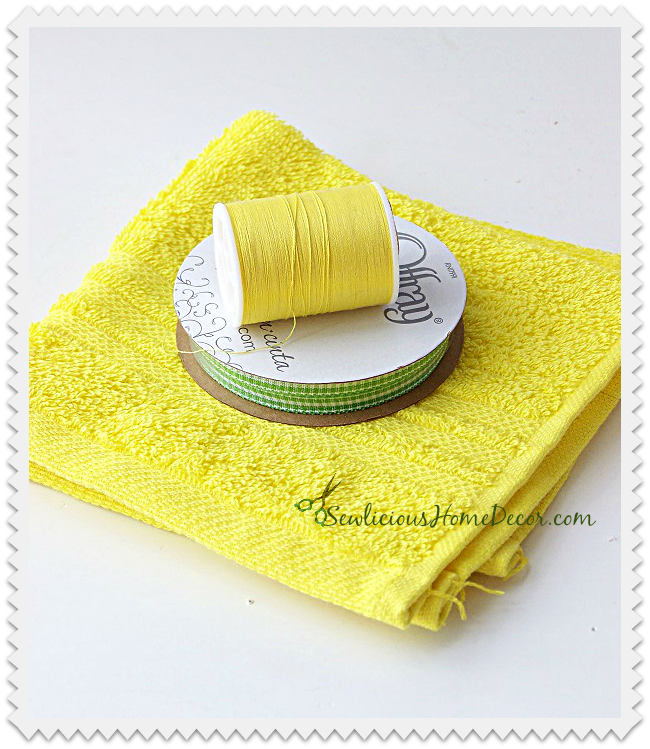 Washcloth Sewing Organizer Supplies