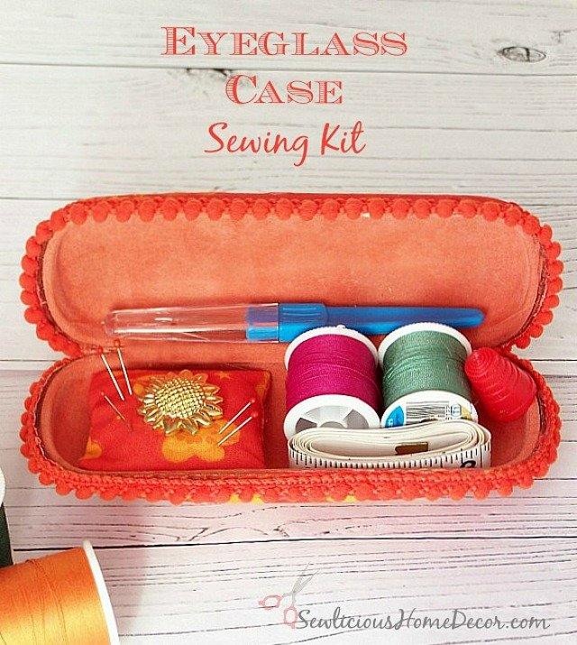 An Eyeglass Case Sewing Kit at sewlicioushomedecor