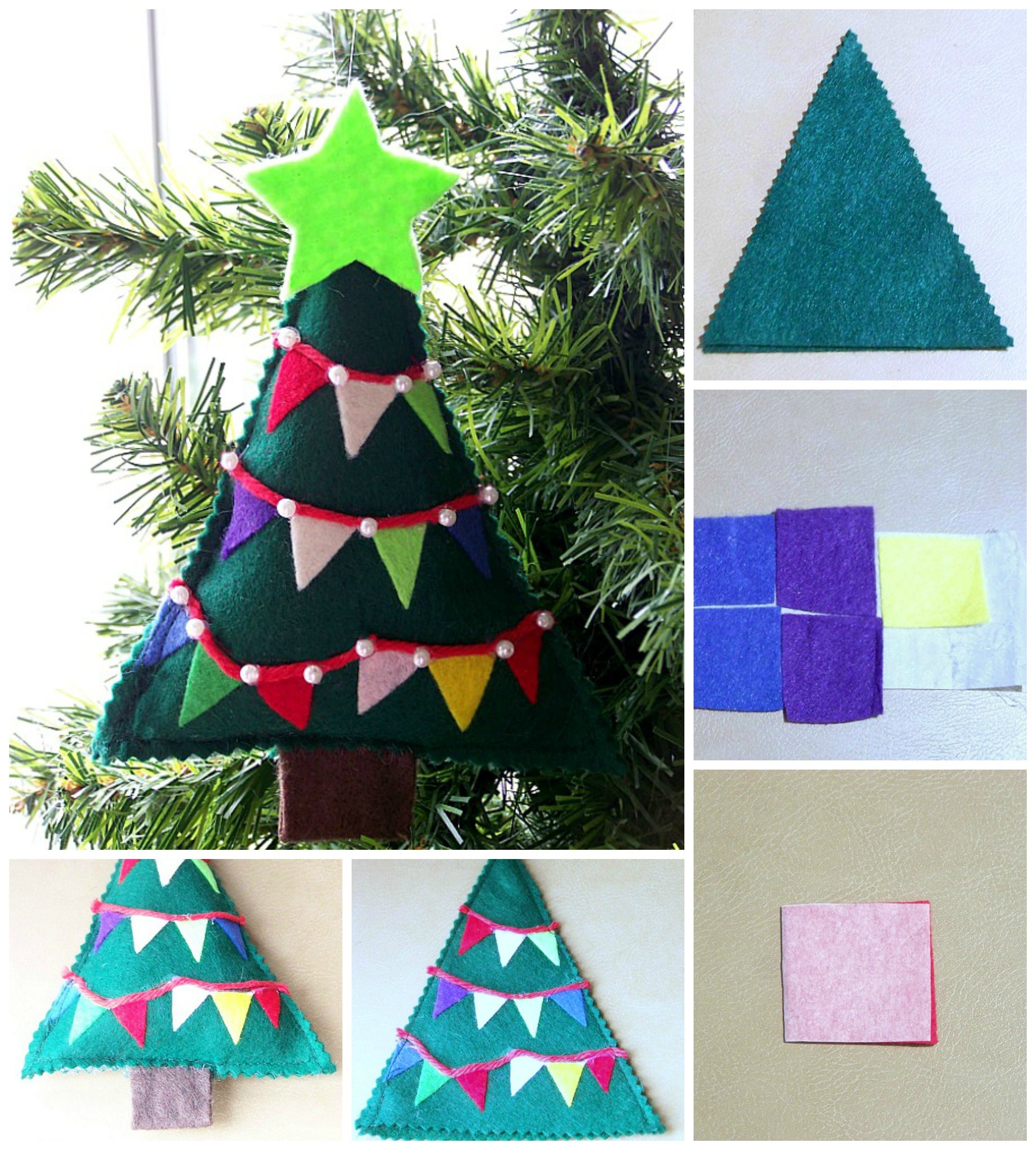 Felt Christmas Tree Tutorial