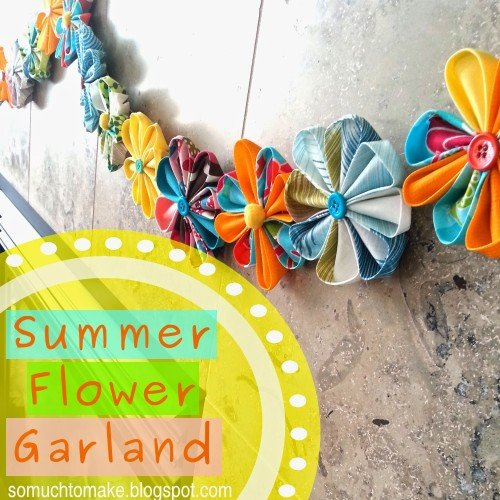 flower garland banner