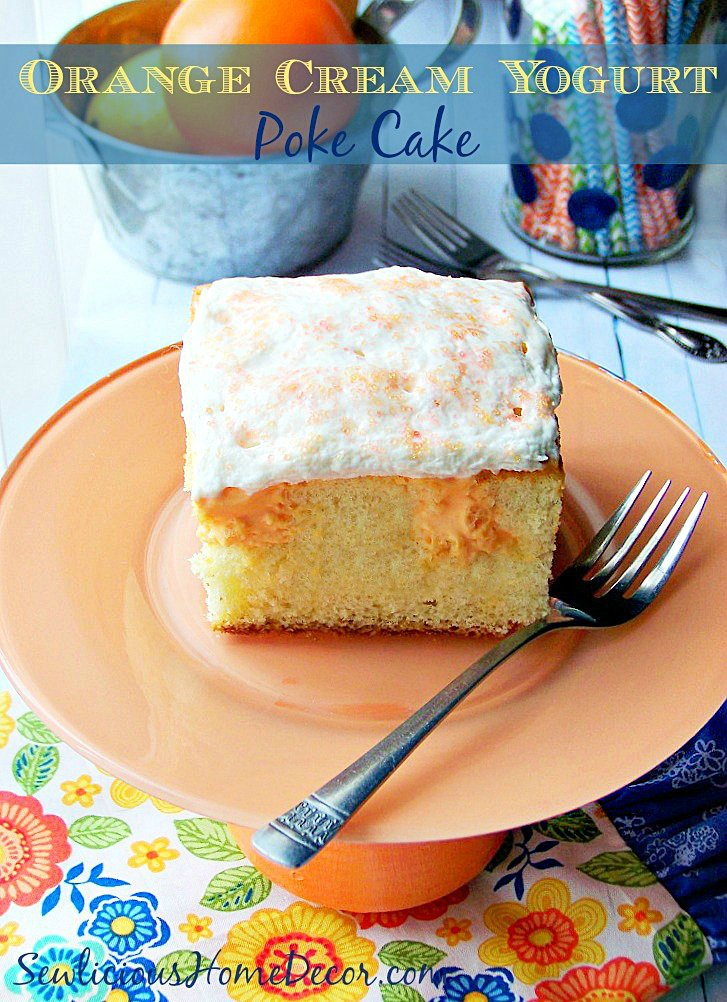 Orange Cake Poke Holes