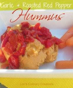 Garlic-and-Roasted-Red-Pepper-Hummus