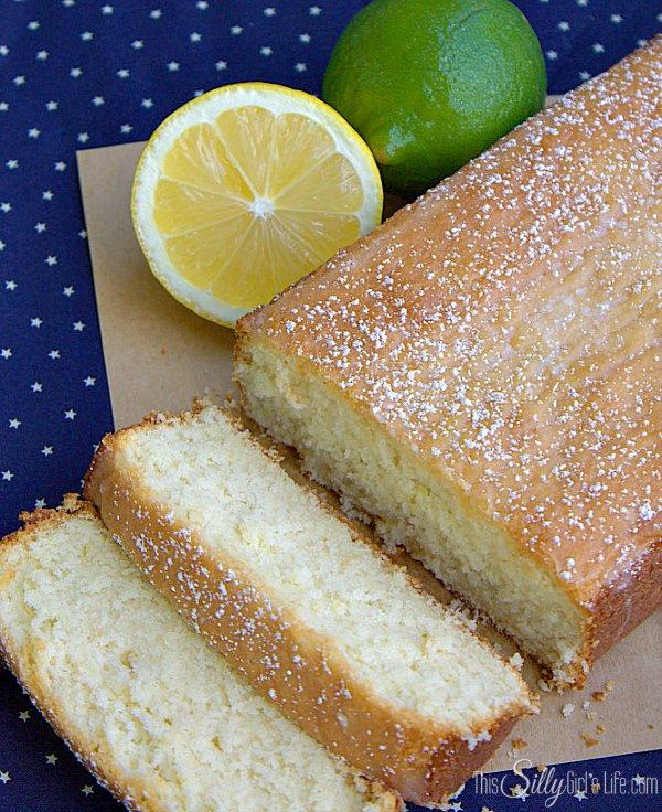 lemon lime snack cake