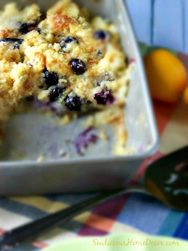 Blueberry Lemon French Toast Cake. sewlicioushomedecor.com
